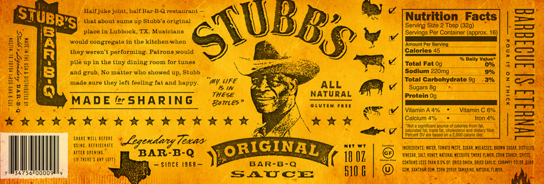 Stubb's BBQ Packaging
