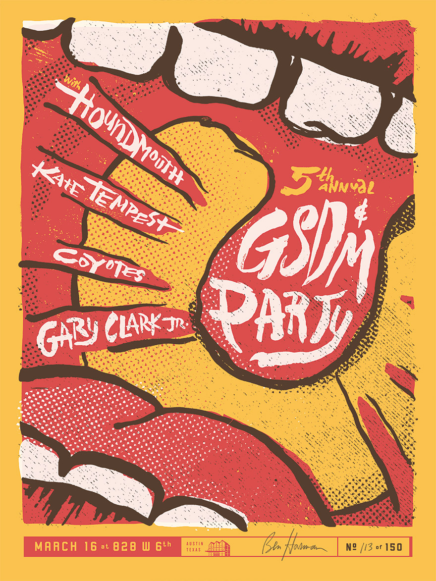 GSD&M Concert Posters